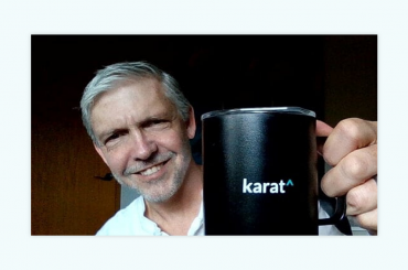 Bill Kramer shows off his remote onboarding swag