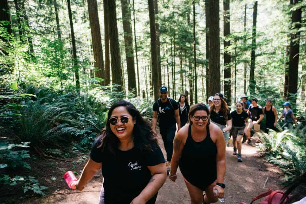 The Karat team explores hiking and technical interview handholding during a 2019 offsite