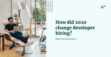 Developer Hiring Changes - Person in a chair looking at a macbook with feet up.