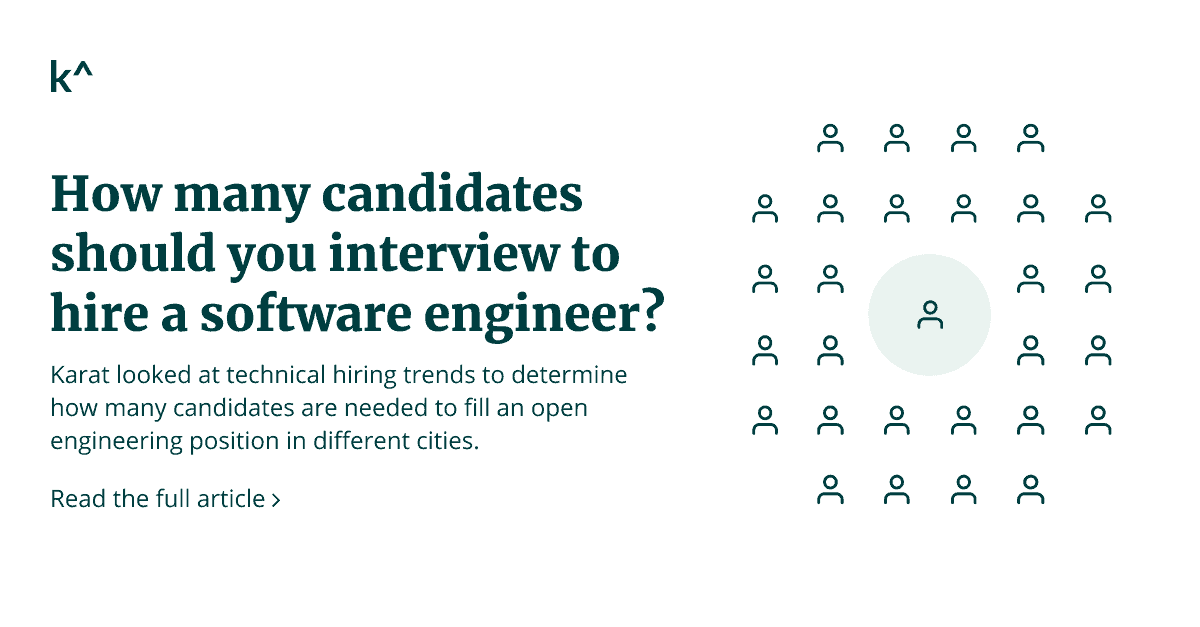 How many candidates should you interview to hire a software engineer?