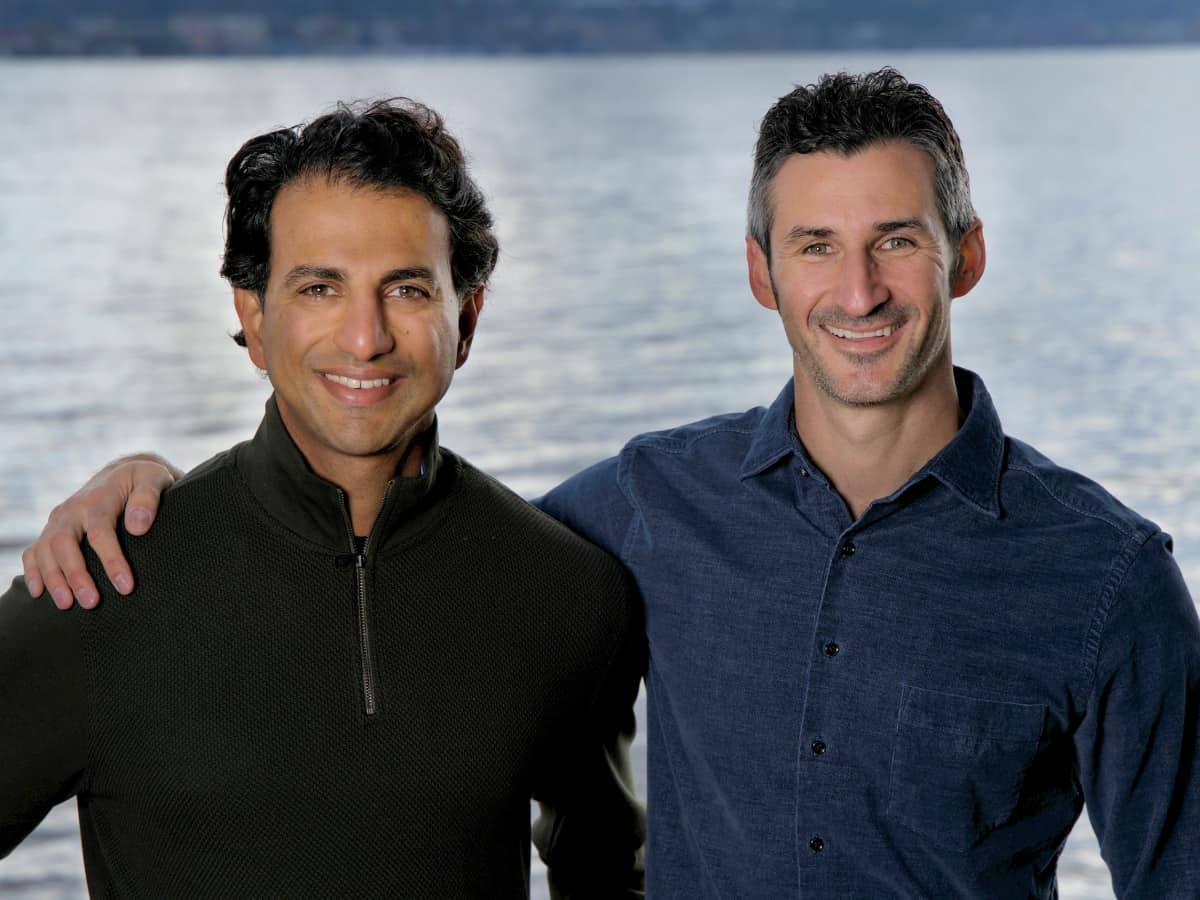 Karat co-founders Mo Bhende and Jeffrey Spector celebrate the announcement of Karat's Series C funding